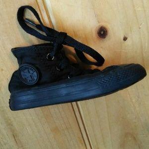 All Black Converse Hi Shoe